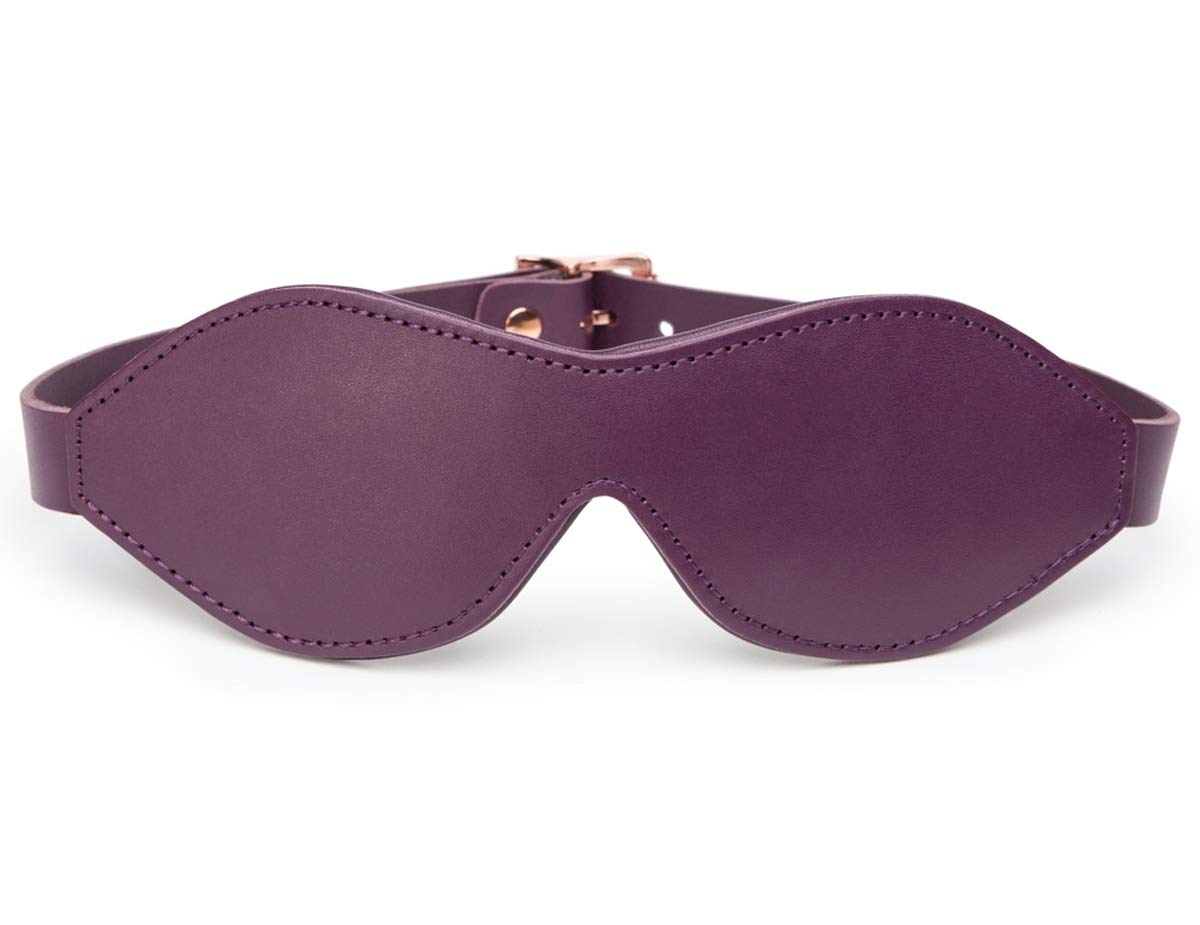 Fifty Shades Cherished Collection Leather Blindfold by Lovehoney