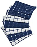 #6: DII Cotton Terry Windowpane Dish Cloths, 12 x 12