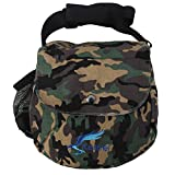 Kestrel Disc Golf Bag | Fits 6-10 Discs + Bottle | for Beginner and Advanced Disc Golf Players | Extremely Durable Canvas | Disc Golf Bag Set | Small Disc Golf Bag (Green Camo)