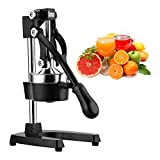 juicer manual stainless - Excelvan Hand Press Citrus Commercial Juicer Pro Manual Fruit Fresh Squeeze with Stainless Steel Funnel Black