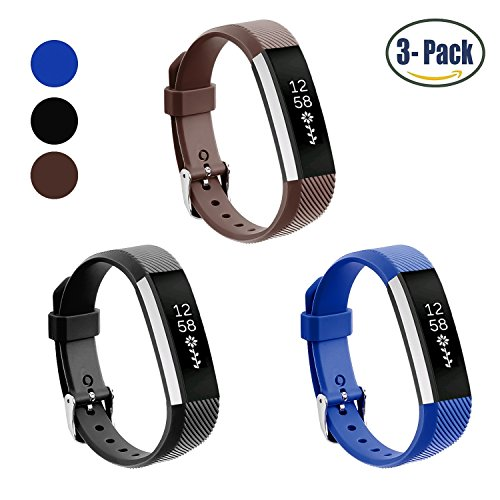 Fitbit Alta Bands, Konikit Soft Adjustable Replacement Band Accessory with Secure Watch Clasps for Fitbit Alta, Pack of 3
