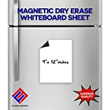 5 Dry Erase White Magnetic Sheets - 9'' X 12'' - Magnetic White-Board Write on Wipe off sheets - Total of 5 Sheets. THE BEST FLEXIBLE DRY ERASE SHEETS ON THE MARKET!