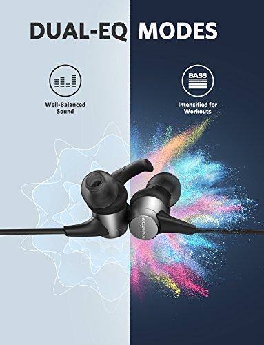 Wireless Headphones, Soundcore Spirit Pro Bluetooth Earbuds Anker Dual EQ, 10H Playtime, IP68 Waterproof, SweatGuard Technology, Hi-Fi Sound, Bluetooth Headset Mic Sports Gym by Soundcore (Image #4)