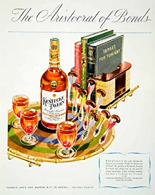 1946 Ad Kentucky Straight Bourbon Whiskey Alcohol Beverage Drink Darts Classy - Original Print Ad