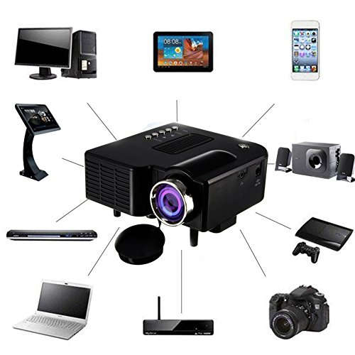 Mini Projector 2018 Upgraded, UNIC UC28+3D 1080p Portable LED Projector Support USB HDMI AV SD VGA for Home Cinema Theater