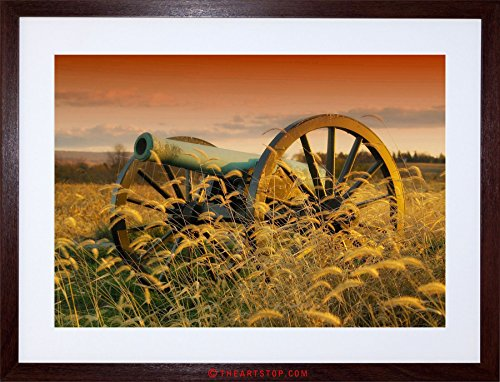 (The Art Stop WAR Photo Military Antietam Cannon Battle American Civil Framed Print F97X4061)
