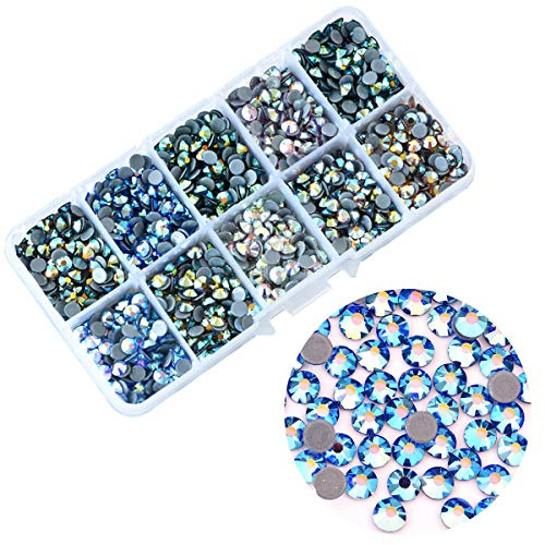 (BLINGINBOX 1000pcs Mix Colors AB with Box, 10 Colors ss20(4.6-4.8mm) Hotfix Rhinestone Garment Crystal Glass Material)