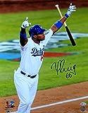 Yasiel Puig Signed Autographed 16X20 Photo Dodgers Bat Flip Home Run Beckett