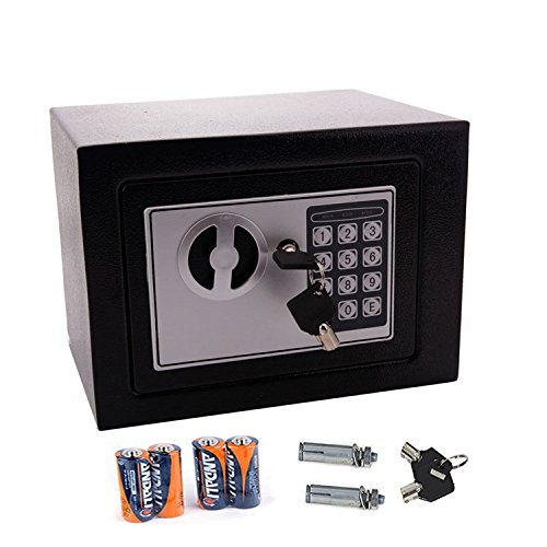 FDegage Digital Security Safe Box Solid Steel Construction Hidden with Deadbolt Lock Wall-Anchoring Design
