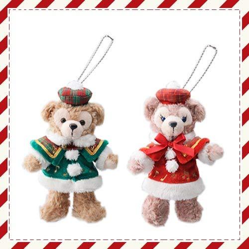 ペア ぬいぐるみバッジ ダッフィー&シェリーメイ クリスマス2012年   B07KXFD2W7