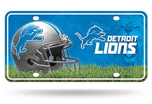 NFL Detroit Lions Metal License Plate Tag