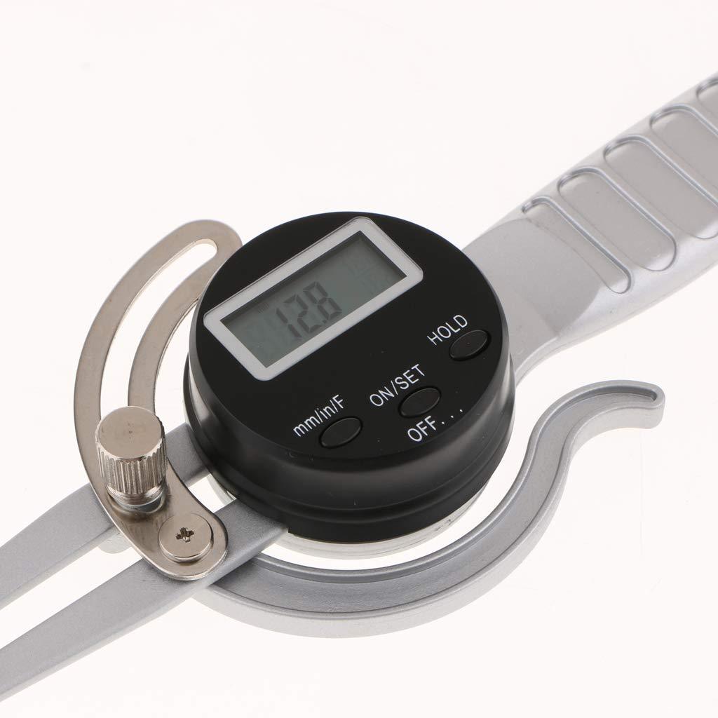 nouler Calibrador Digital de Alta precisión con Mango de Instrumentos electrónicos de 0,1 mm de Juler 5 m. Función de Bloqueo de la Herramienta de medición