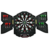 Professional Electronic Dartboard Cabinet Set w/12 Darts Game Room LED Display