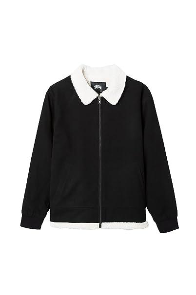Stussy Wool B-10 Jacket Black – Chaqueta de hombre, negra, pelo blanco en el interior. negro L: Amazon.es: Ropa y accesorios