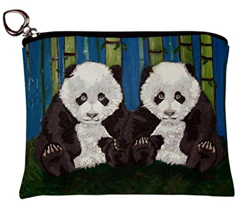Salvador Kitti Vegan Change Purse, Coin Purse - Animals - From My Original Paintings - Support Wildlife Conservation, Read How (Giant Panda Cubs) ()