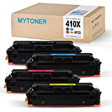 MyToner 410x Compatible HP 410A 410X Toner Cartridge for HP Color Laserjet Pro MFP M477fdw M477fnw M477fdn M477, M452dw M452nw M452dn M452 M377dw Printer Ink (CF410X CF411X CF412X CF413X)