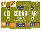 Fire & Flavor Natural Red Cedar Grilling Paper Wraps w Cotton String Ties, 8.5 X 6.25 Inch, 8 Count, Pack of 3