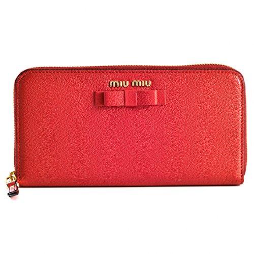 MIUMIU(ミュウミュウ) マドラス 長財布 リボン ラウンドファスナー長財布 5ML506 3R7 JU2 [並行輸入品] B0788GTDLR