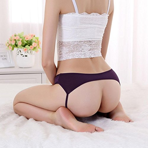 Underpants ,Beautyvan Comfortable 2016 New Open Butt Backless Panties Thongs Lingerie Underwear (Purple)