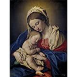 'Sassoferrato La Virgen con el Nino dormido 17 Century ' oil painting, 16 x 21 inch / 41 x 54 cm ,printed on high quality polyster Canvas ,this Cheap but High quality Art Decorative Art Decorative Canvas Prints is perfectly suitalbe for Bedroom gallery art and Home decor and Gifts