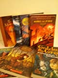 fantasy set for kids percy jackson 1 2 ring of fire; the case of the missing marquess; the book of elsewhere; the wright 3; golden and greg