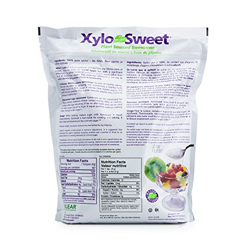 XyloSweet Non-GMO Xylitol Natural Sweetener, Granules, 5lb Resealable by Xlear (Image #1)