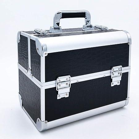 Caja de cosméticos de Belleza de Aluminio Maquillaje Profesional/Manicura/Viajes/Almacenamiento: Amazon.es: Hogar