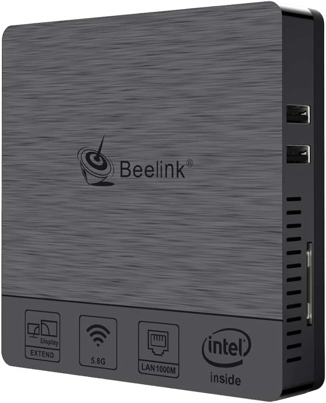 Beelink BT3Pro II Mini PC Computer Windows 10 4GB Ram 64GB eMMC Intel Atom x5-Z8350 Multi Media Desktop HDMI VGA Dual Display, Full 4K HD H.265 / 1000Mbps LAN / 2.4G+5.8G Dual WiFi/VESA Mount