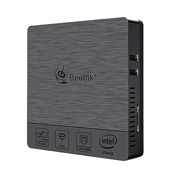 Beelink BT3Pro II Mini PC Computer Windows 10 4GB Ram 64GB eMMC Intel Atom x5-Z8350 Multi Media Desktop-PC HDMI VGA Dual Disp