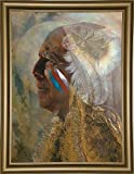 Frame USA Wicasa Wakan (the Holy Man) Framed Print 42.5''x31.5'' by Denton Lund, 42.5x31.5, Bistro Gold