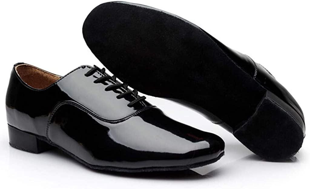 Fashion Mens Solid Lace Up Rumba Waltz Prom Ballroom Latin Salsa Dance Shoes Pandaie-Mens Shoes
