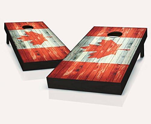 France Themed 2x4 Custom Cornhole Board Set with bags Custom Corn Hole Bean Bag Toss Worn Country Flag Bag Toss