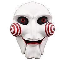 Uus Maschera di Halloween Horror, Maschera a tema di cripta di mitragliatrice Maschera di resina mascherata (22,5 * 12 cm)