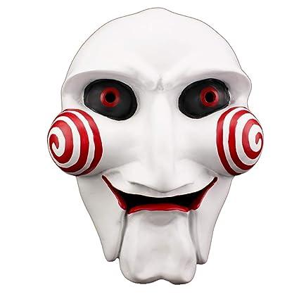 Zfggd Máscara de Horror de Halloween Fiesta de Baile Hombres Asesino Diablo Maquillaje Máscara de Resina