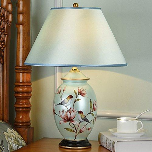 HQCC Europa Tipo lámpara de Escritorio lámpara de Dormitorio la Cabeza de una Cama Creativa Estadounidense cerámica Simple...