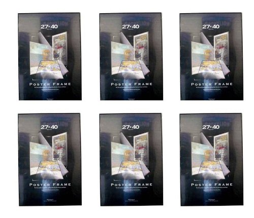 Six Pack Movie Poster Frames 27x40 Thin Profile Solid Backi