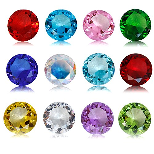 Birthstones Paperweight Glass Diamond 40mm Crystal Art