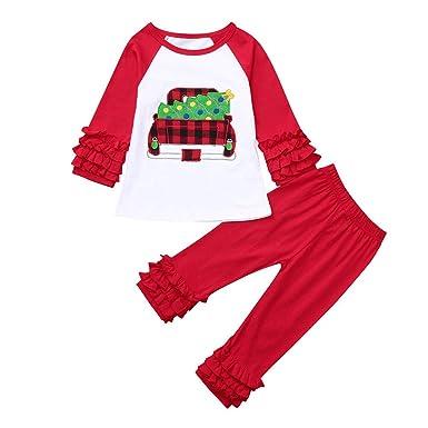 f524b56775e4 Infant Toddler Girls Christmas Clothes Outfits Set 3M-4T ❤ 2Pcs Kids Xmas  Long