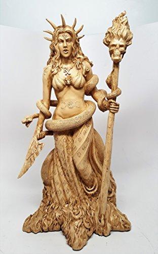 Greek Goddess White Sorceress Witchcraft Hecate Figurine Hekate Necromancy Deity Magic Powerful Pagan Witch Statue