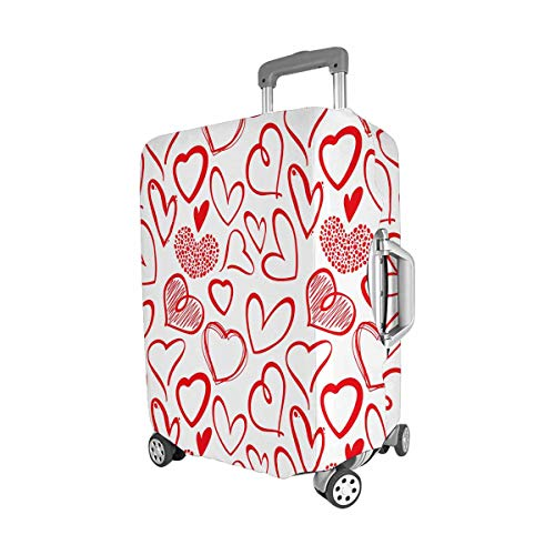 InterestPrint Vintage Valentine Love Heart Travel Luggage Protector Baggage Suitcase Cover Fits 22''-25'' Luggage by InterestPrint (Image #2)