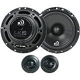 Massive Audio LK6-6.5 Inch 300 Watts Max / 80w RMS, 4 Ohm, LK Series, Component Car Audio Speaker System (Pair)