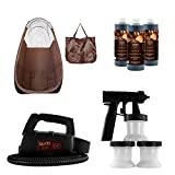 Maxi-Mist Lite Plus HVLP Sunless Spray Tanning KIT Tent Machine Airbrush Tan Maximist BRWN