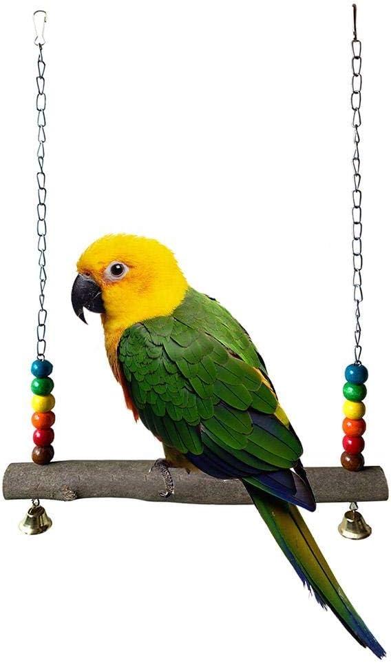 Swing para Mascotas 2020 Juguete Multifuncional Creativo Columpio De Madera Adecuado para Loros/Gallos