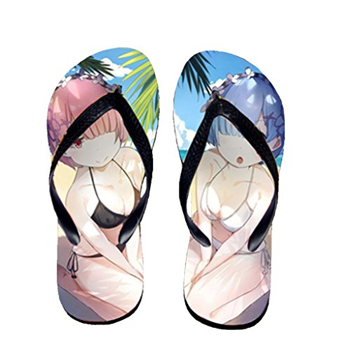 Bromeo Life in a different world from zero Anime Unisex Flip Flops Chanclas 798