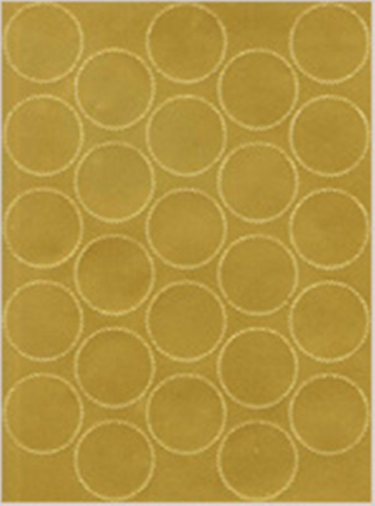 Geographics Certificate Gold Foil Seals, 1 3/4 Inches dia, Gold Foil, (44461),200 Pack.