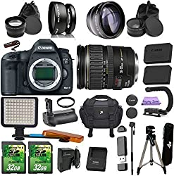 Canon Eos 5d Mk Iii + 28-135mm Is Usm. Pagingzone Kit Includes, .43x Fisheye + 2.2x Telephoto Lenses + Led Light + 2 Sd 32gb Card + Extra Batter &Charger + Uv Filter + Tripod + Monopod + Battery Grip