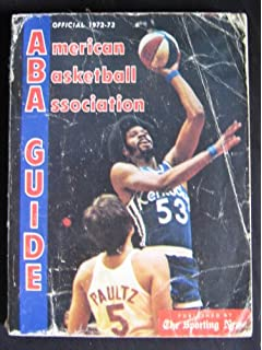 1974 75 official american basketball association guide paperback