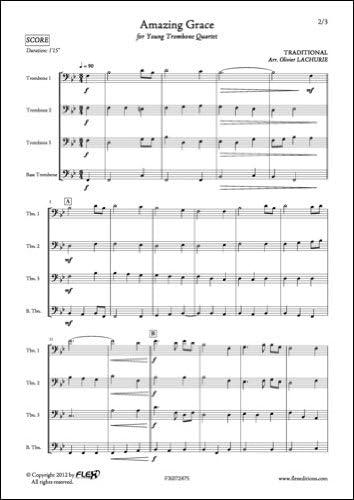 PARTITURA CLASICA - Amazing Grace - TRADITIONAL - Trombone Quartet ...