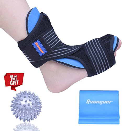 Plantar Fasciitis Night Splint Foot Drop Orthotic Brace for Sleep Support- Adjustable Dorsal Night Splint for Effective Relief from Plantar Fasciitis Pain, Heel, Arch Foot Pain Fits Right or Left - Drop Foot Splint
