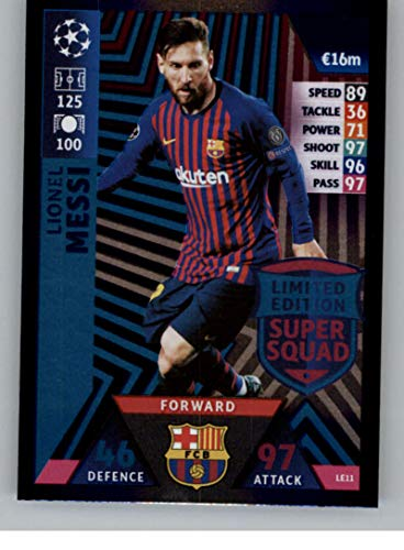 383cd2bbf 2018-19 Topps UEFA Champions League Match Attax Limited Edition Super Squad   LE11 Lionel Messi FC Barcelona Official Futbol Soccer Card